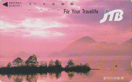 Télécarte  Japon - JTB - Volcan MONT FUJI - Vulcan Mountain Japan Phone Card - Vulkan Berg Telefonkarte - 680 - Montagnes