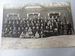ANCIENNE PHOTO Gd FORMAT 19,5x29cm / ICI JOUE ET PRIE  - MUSICIENS TERTRE  1911-1923 - Antiche (ante 1900)