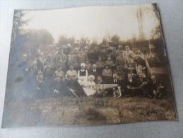 ANCIENNE PHOTO Gd FORMAT 23x29cm /   - MUSICIENS LES 28 JOURS DE CLAIRETTE / A IDENTIFIER - Antiche (ante 1900)