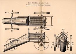 Original Patentschrift - Carl Walter In Malchow I. Meckl., 1894 , Kartoffelerntemaschine , Landwirtschaft , Agrar !!! - Maschinen