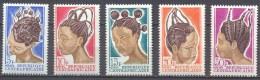 Centrafricaine Rép. YT N°89/93 Coiffures Féminines Neuf/charnière * - Centrafricaine (République)