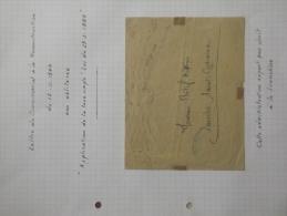 Lettre Du Commissariat à La Reconstruction Du 15/11/1944 Non Oblitéré Application De La Taxe Simple - Marcophilie (Lettres)