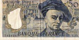 50 Fr Quentin De La Tour 1979 - 50 F 1976-1992 ''Quentin De La Tour''
