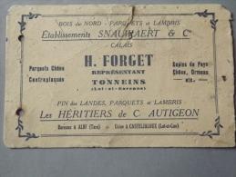 Buvard Forget Boit Parquet Et Lambri - Buvards, Protège-cahiers Illustrés