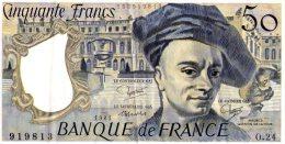50 Fr Quentin De La Tour 1981 - 50 F 1976-1992 ''Quentin De La Tour''