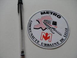 Autocollant - Nord - Lille - Métro Transports - Adesivi
