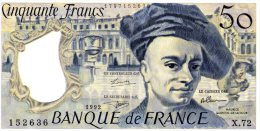 50 Fr Quentin De La Tour 1992 - 50 F 1976-1992 ''Quentin De La Tour''