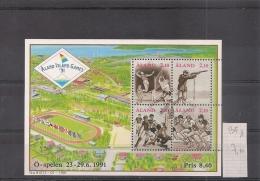 ALAND  Bloc Feuillet  Sport  Jeux De 1991       ( Ref 656) - Aland