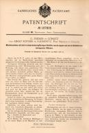 Original Patentschrift - G. Zeidler Und A. Rother In Görlitz Und Radmeritz , 1898 , Mischer , Radomierzyce , Nikrisch - Maschinen
