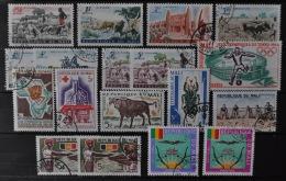 Mali 1961 - 1967, Lot Of 18 Stamps (o), Used - Mali (1959-...)