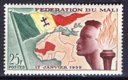 Mali 1959, Founding Of Federation - Flag - Map **, MNH - Mali (1959-...)