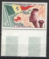 Mali 1959, Founding Of Federation - Flag - Map **, MNH, Margin - Mali (1959-...)