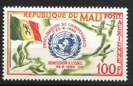 Mali 1961, Proclamation - UNO - ONU **, MNH - Mali (1959-...)