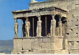 Athens - Acropolis - The Caryatides - 1 - Formato Grande Viaggiata - S - Grecia
