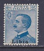 Libya, Scott # 8 Mint Hinged Italy Stamp Overprinted, 1912 - Libya