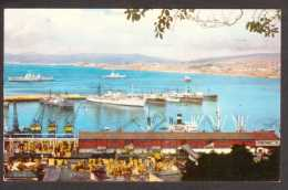 CL15) Valparaiso - Vista Parcial Bahia - Ships In Harbour - 1960 - Chile
