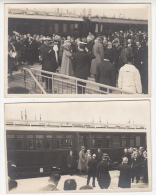 Le Roi Albert Et La Reine En Visite - à Situer - 3 Cartes Photo - Editeur Georges Pottier, Ostende - Familles Royales