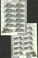 Ukraina 2006 / Locomotives / Set 4 MS With 11 Sets And Label - Trains