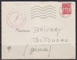 = Timbre Franchise Militaire Sur Lettre 7.7.61 Origine  93RI Camp De Frileuse - Franchise Stamps