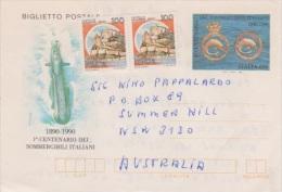 Italy 1990 Submarines Centenary Aerogramme Used - Submarines