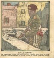 Dessin Duce Mussolini Tarente Pouilles .  Yugoslavia Yougoslavie Costumes Serbe Belgrade - Libri, Riviste, Fumetti