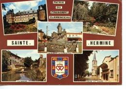 Sainte Hermine Multivues N°102 Artaud Chateau Smagne Eglise Cinéma Monument Clemenceau - Sainte Hermine