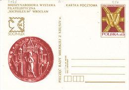 P-Warschau 1984. Karte SOCPHILEX (5.128) - 1944-.... Republik