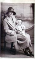 Old Postcard Showing Maggie Irene Bolton & Leslie Bolton Of Birmingham, B/W RP 1920s - Portraits
