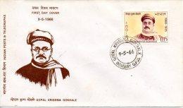 INDE. N°206 Sur Enveloppe 1er Jour (FDC) De 1966. Réformateur Gokhale. - Indien