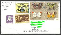 USA Cover With Several Stamps Butterfly Schmetterlinge Etc  To ESTONIA Estland Estonie 2013 - Entiers Postaux