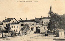 CPA  -  LES  MARCHES  (73)   La Place  -  Au Dos : Cachet  Hopital Auxiliaire N° 14 -  LES  MARCHES  (Savoie) - France