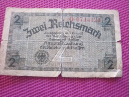 Note Bank  Banca Billet De Banque Bankrépublique Weimar Allemagne Deutschland 2 Mark - [ 3] 1918-1933 : República De Weimar