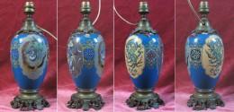 Pied De Lampe En Émaux Cloisonnés Du Japon – Monture Bronze / Époque Napoléon III - Arte Orientale