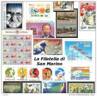 FILATELIA - SAN MARINO - ANNATA COMPLETA 1998 - LA FOTOGRAFIA  E´ VALIDA SOLO COME ESEMPIO - Saint-Marin