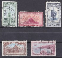 New Zealand 1950 Canterbury Centennial Set Of 5 Used - - New Zealand