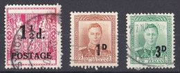 New Zealand 1950, 1952 Surcharges Used - New Zealand