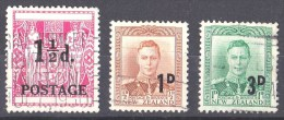New Zealand 1950, 1952 Surcharges Used - - Used Stamps