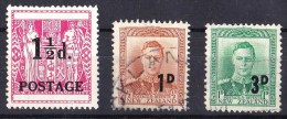 New Zealand 1950, 1952 Surcharges Used - - - Used Stamps