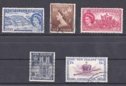 New Zealand 1953 Coronation Set Of 5 Used - New Zealand