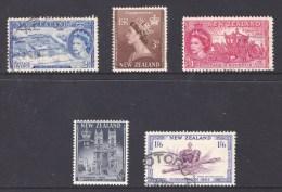 New Zealand 1953 Coronation Set Of 5 Used - - New Zealand