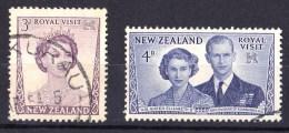 New Zealand 1953 Royal Visit Set Of 2 Used - New Zealand