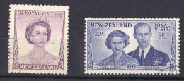 New Zealand 1953 Royal Visit Set Of 2 Used - - Used Stamps