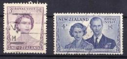New Zealand 1953 Royal Visit Set Of 2 Used - - - New Zealand