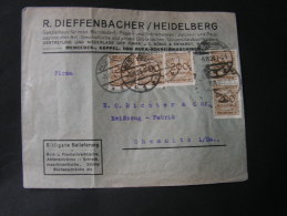 == DR Infla 1924  MeF Heimatbeleg Heidelberg Reklame - Briefe U. Dokumente
