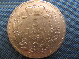 Coin Kingdom Serbia  5 Para 1868( ( Prince Michael Obrenovich III) - Servië