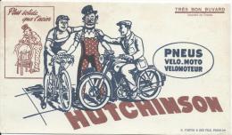 Buvard/Pneus/Vélo-Mooto-V élomoteur/ HUTCHINSON / /Vers 1945-1955    BUV42bis - Buvards, Protège-cahiers Illustrés