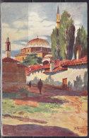 2660. Kingdom Of Serbia, 1915, Mosque In Pristina, Military Censorship, Postcard - Serbie