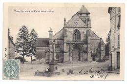 CPA Longjumeau 91 Essonne Eglise St Martin édit BF écrite Timbrée 1903 Dos Non Divisé Bon état - Longjumeau