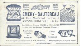Buvard/Horlogerie/Emery-S Autereau/COSNE-SUR-LOIRE/ Vers 1945-1955    BUV44 - Buvards, Protège-cahiers Illustrés