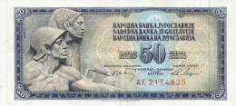 Billet  - B1015 -  Yougoslavie - 50 Dinara  ( 2 Scans) - Yugoslavia